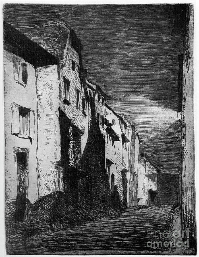 Street At Saverne, 19th Century Drawing by Print Collector