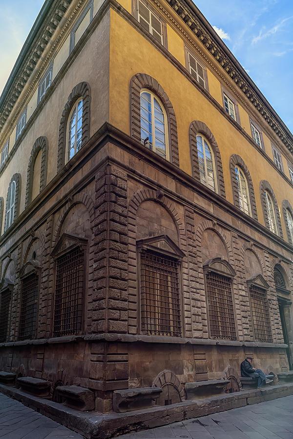 Street Corner Lucca Italy by Joan Carroll