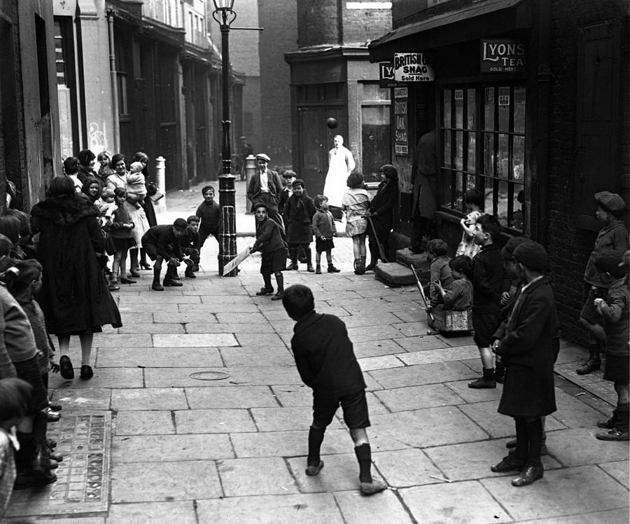 Street Cricket Photograph by Fox Photos