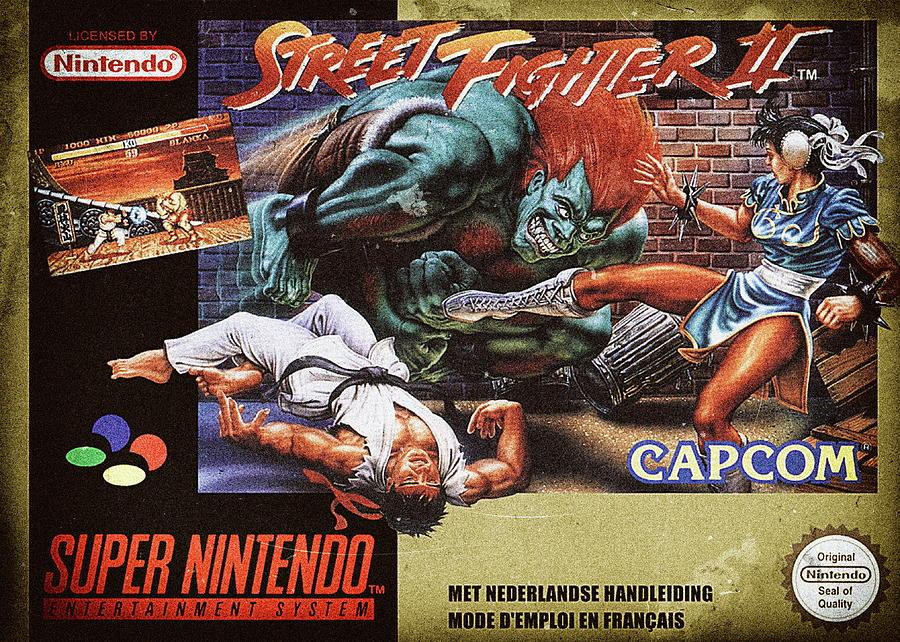 Street Fighter Ii Super Nintendo Nes Digital Art By Benjamin Dupont