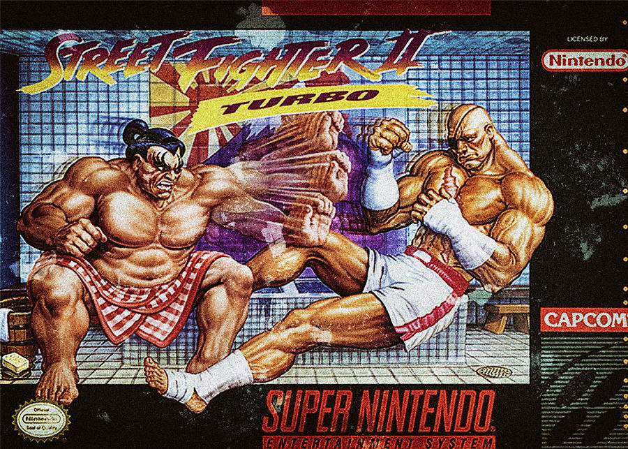 Street Fighter Ii Turbo Super Nintendo Nes Digital Art By Benjamin Dupont
