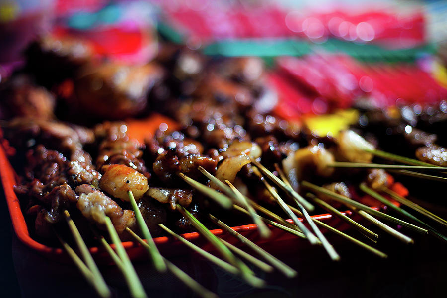 Street Food In Philippines - Skewers Photograph by Fototrav