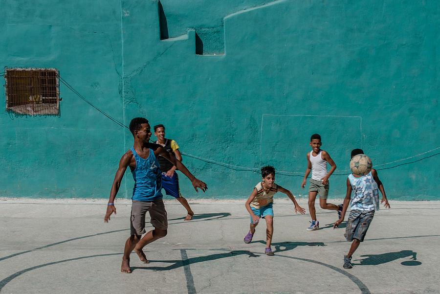 Street Photograph - Street Games by Agnieszka Maruszczyk