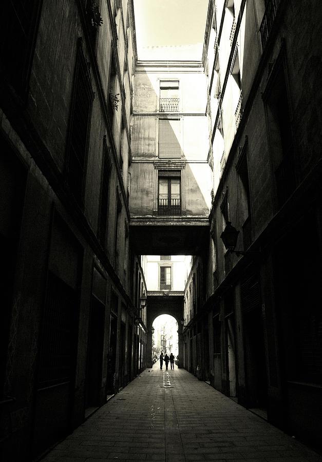 Street In Barcelona Photograph by Maria Fernandez