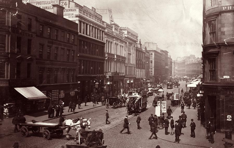 Street In Glasgow Photograph by Hulton Archive