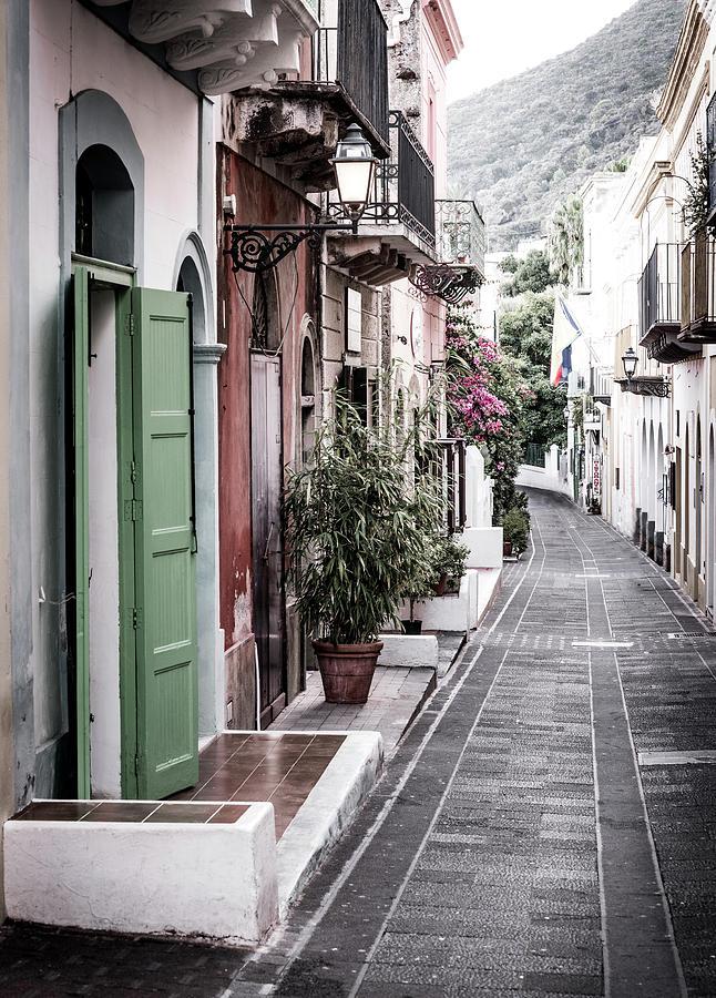 Street In Santa Marina, Salina Photograph