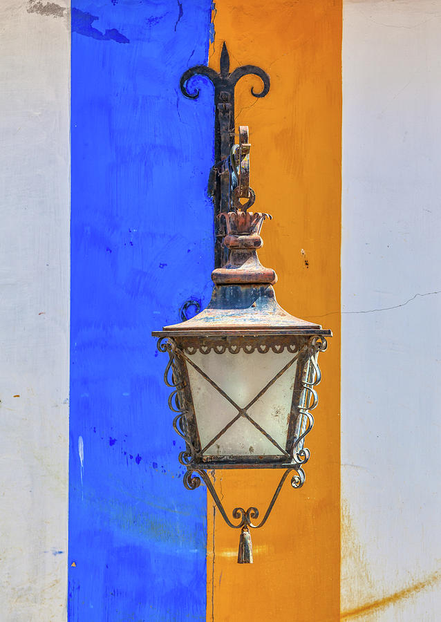 Street Lamp of Obidos by David Letts