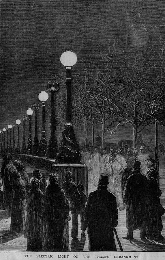 Street Lights Digital Art by Hulton Archive