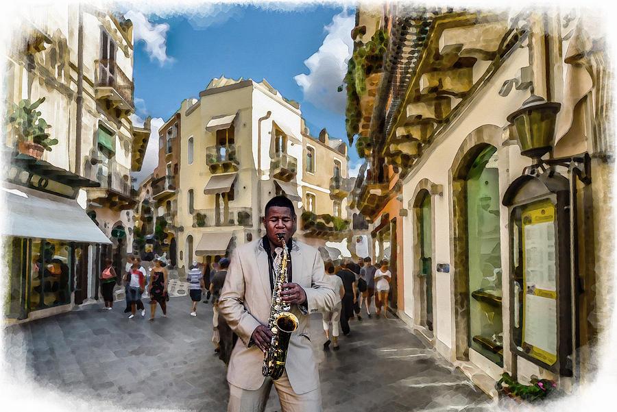 Street Music. Saxophone. by Alex Mir