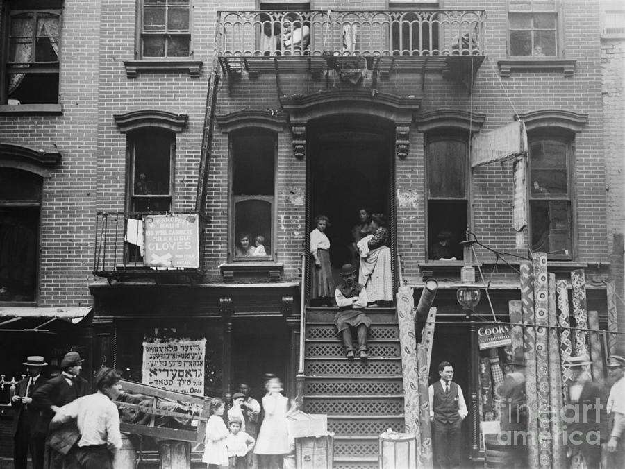Street Scene Of Lower East Side Photograph by Bettmann