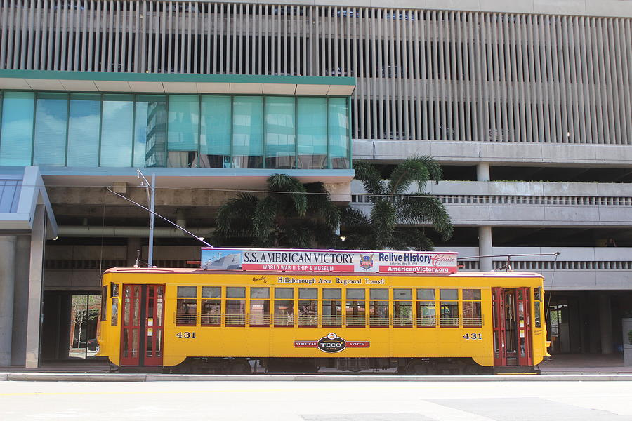 Streetcar, downtown Tampa by Callen Harty
