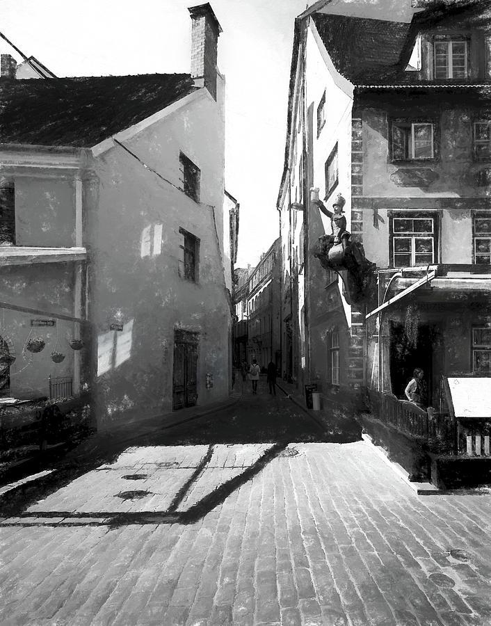 Street...Old Riga by Aleksandrs Drozdovs