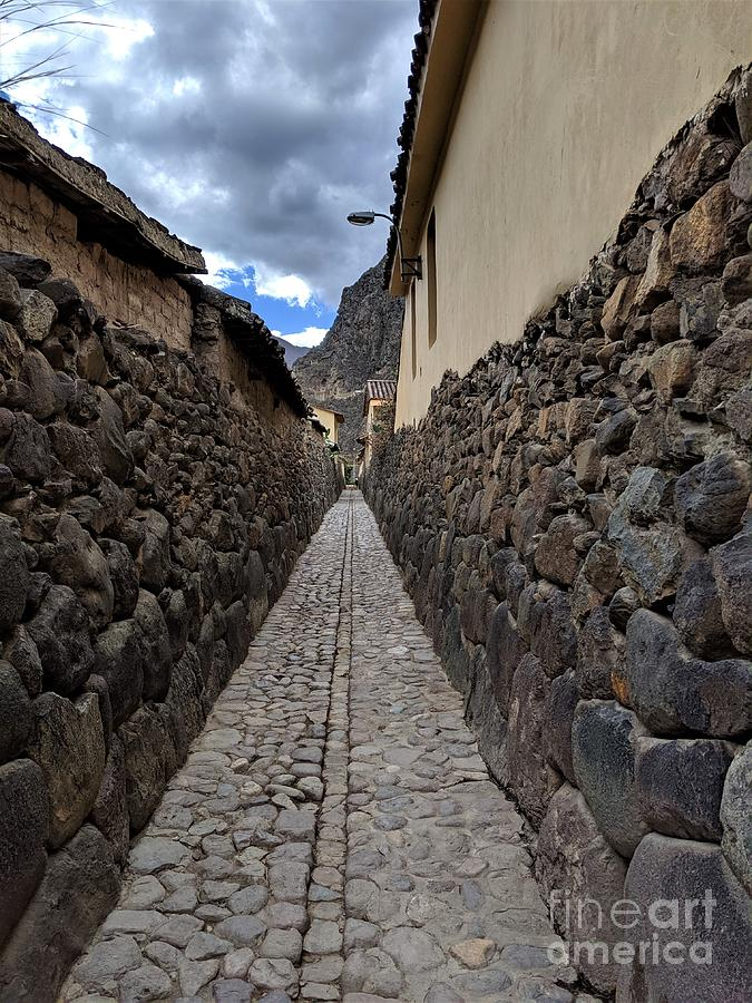 Streets of Ollantaytambo 1 by Julie Pacheco-Toye
