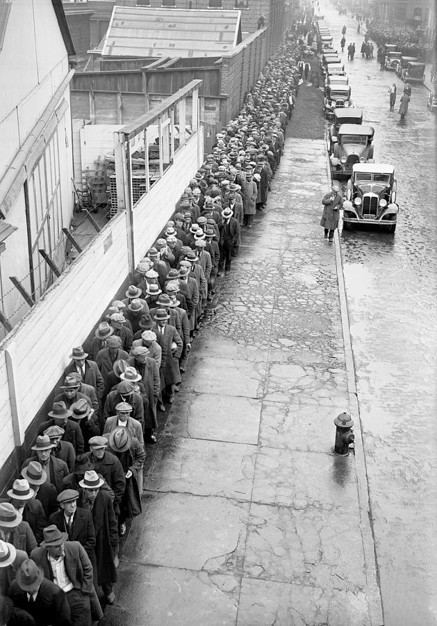 Stretching Down The Street As Far As Photograph by New York Daily News Archive