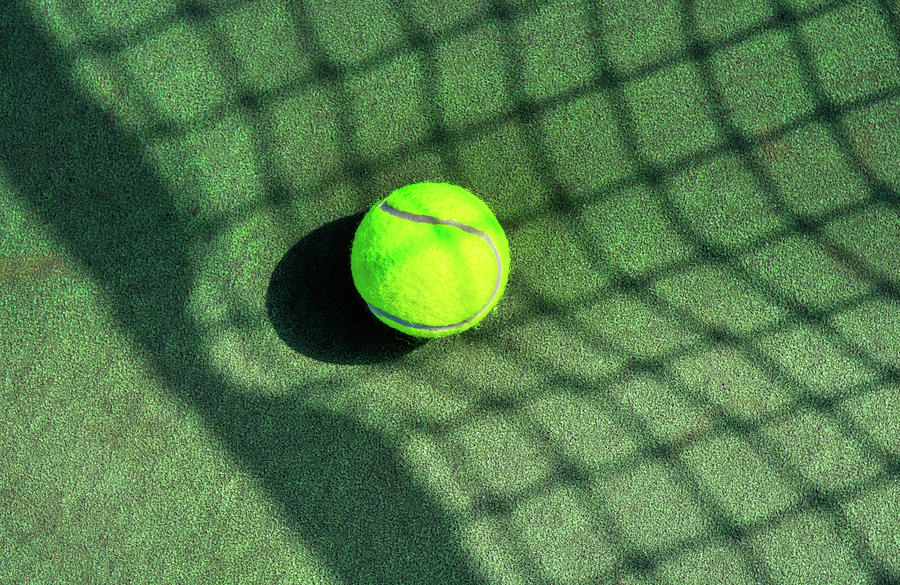 Stretching The Tennis Net Shadow by Gary Slawsky