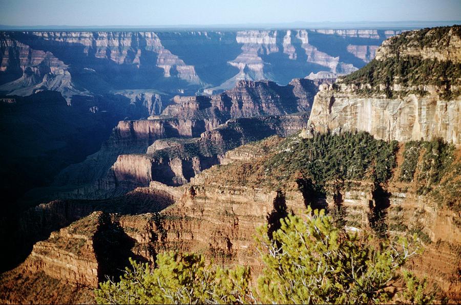 Striated Rocks Of The Canyon Walls Of North Rim Grand Canyon National Park Gran100 00314