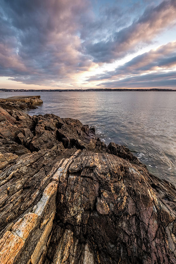 Striations. Leading Lines In The Rocks by Jeff Sinon