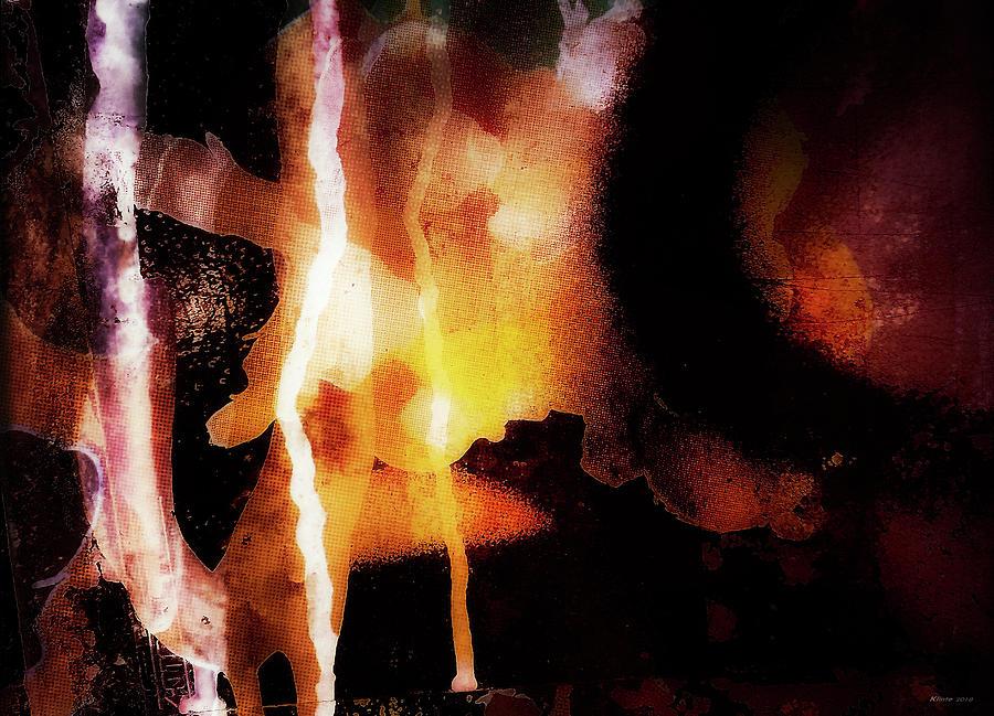 Abstract Digital Art - Strikening by Ole Klintebaek