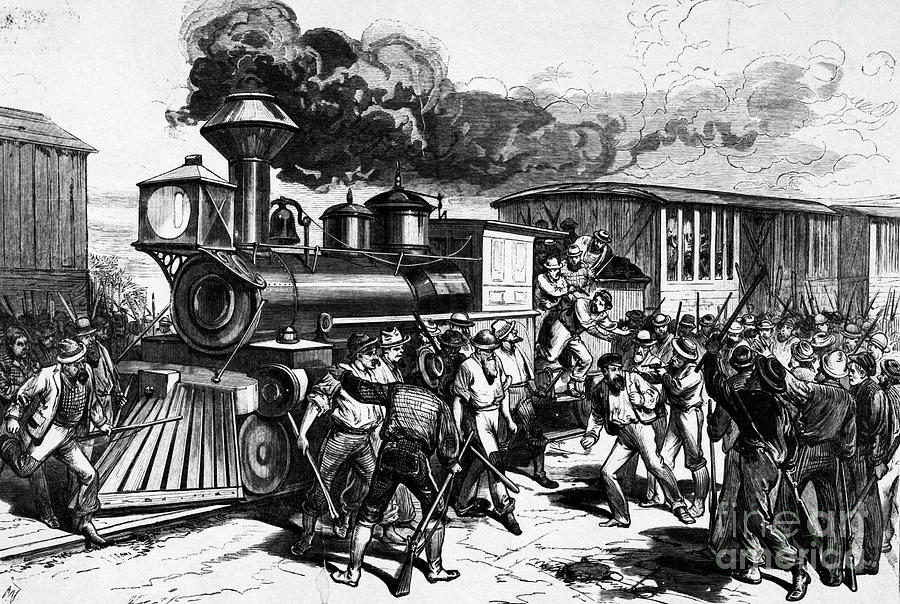 Strikers Threaten Railroad Workers Photograph by Bettmann