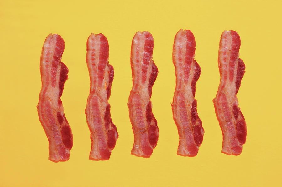 Strips Of Bacon Photograph by Paul Taylor