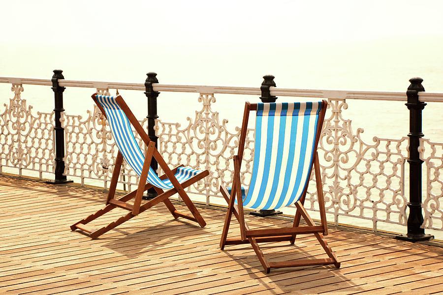 Stripy Chairs Photograph by Nikada