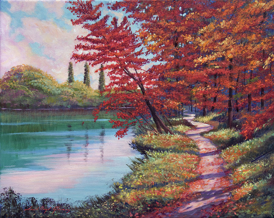 Stroll Along The Lakeshore Painting