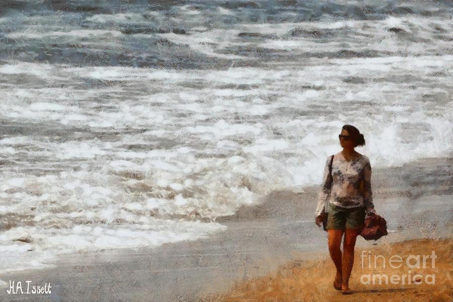 Stroll on the Beach by Humphrey Isselt