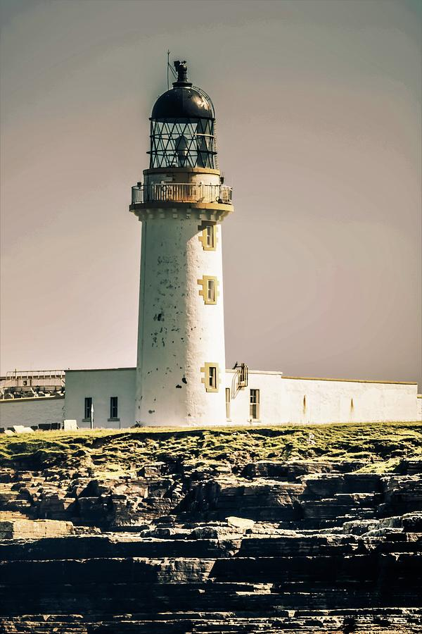 Lighthouse Photograph - Stroma Lighthouse by Alister Harper
