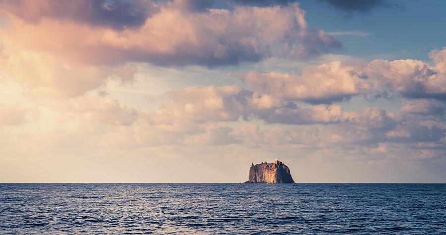 Strombolicchio Lighthouse Island Photograph