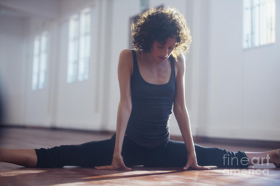 Agility Photograph - Strong Young Female Dancer Stretching by Caia Image/science Photo Library