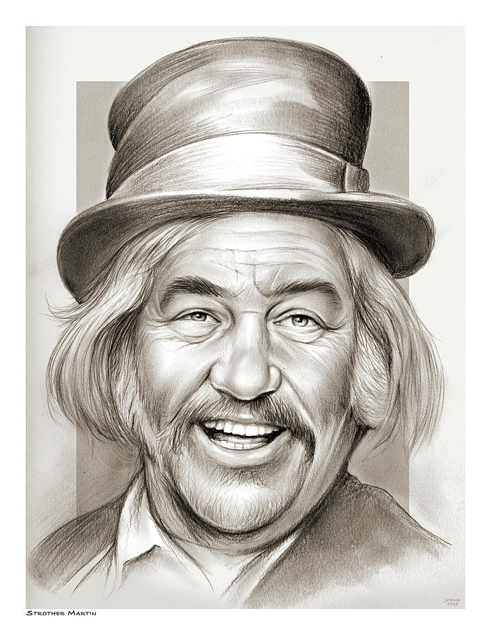 Strother Martin Drawing