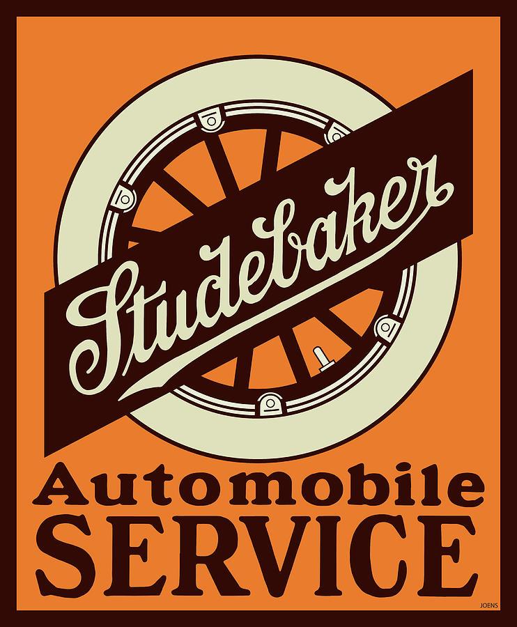 Studebaker Auto Sign Digital Art