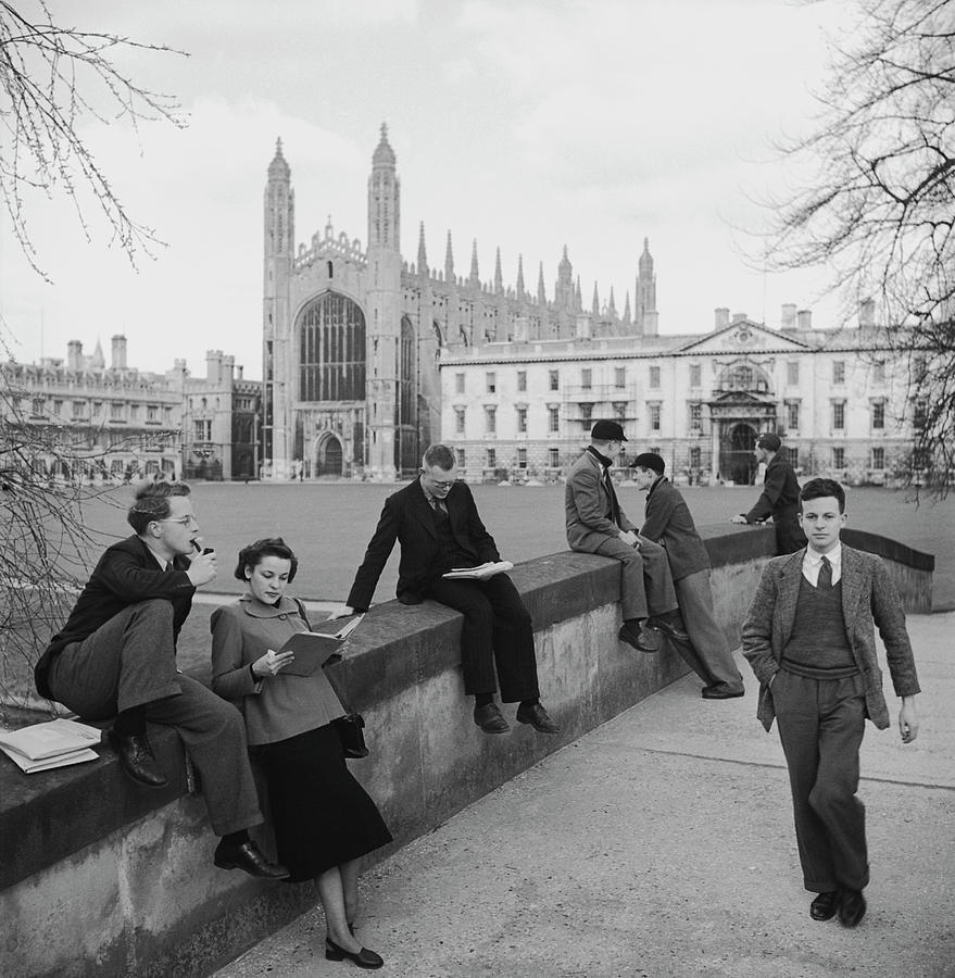 Students At Cambridge Photograph by Slim Aarons