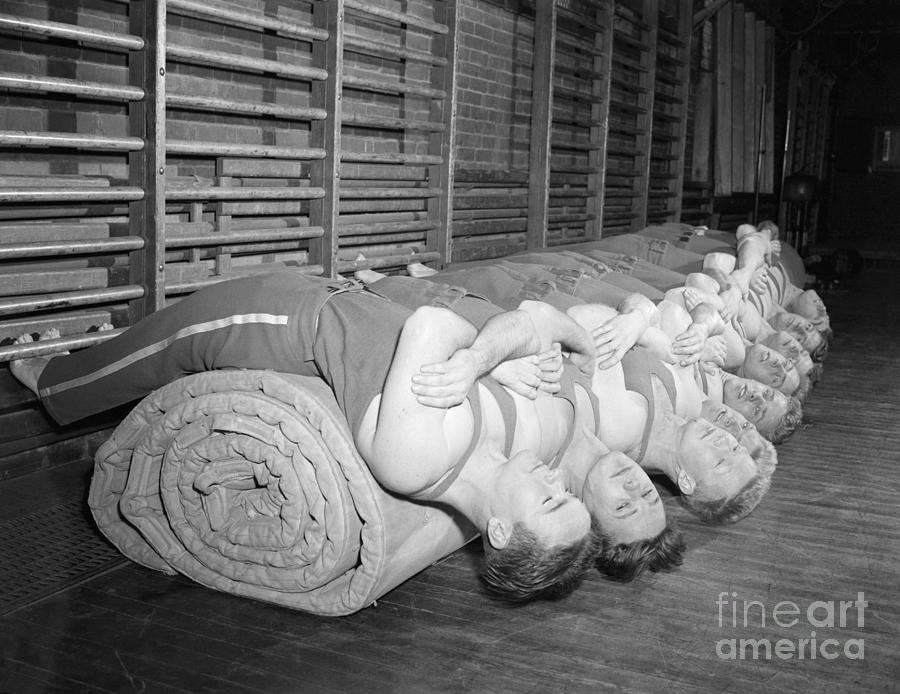 Students Doing Abdominal Excercises Photograph by Bettmann