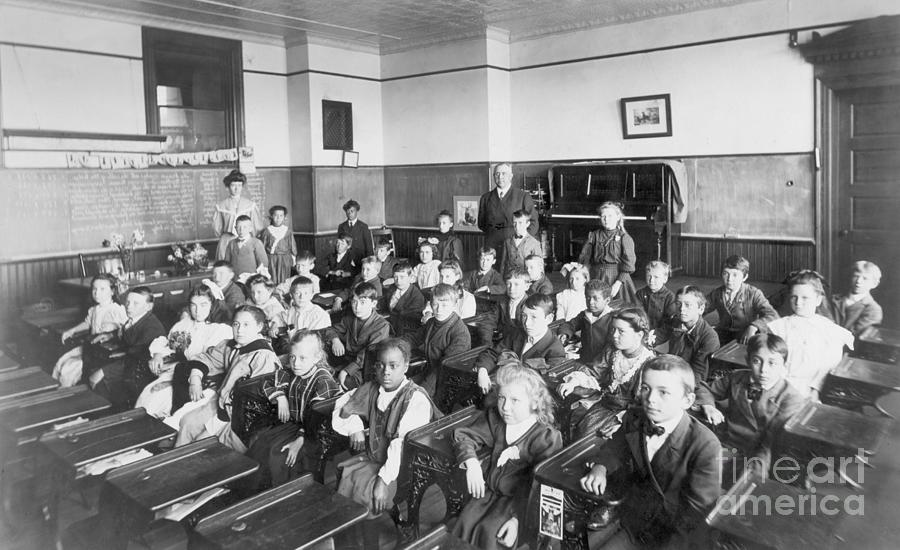 Students In Classroom Photograph by Bettmann