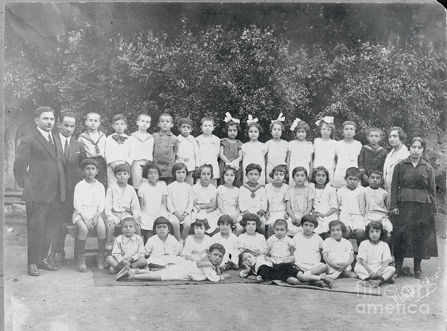 Students Posing With Their Teachers Photograph by Bettmann