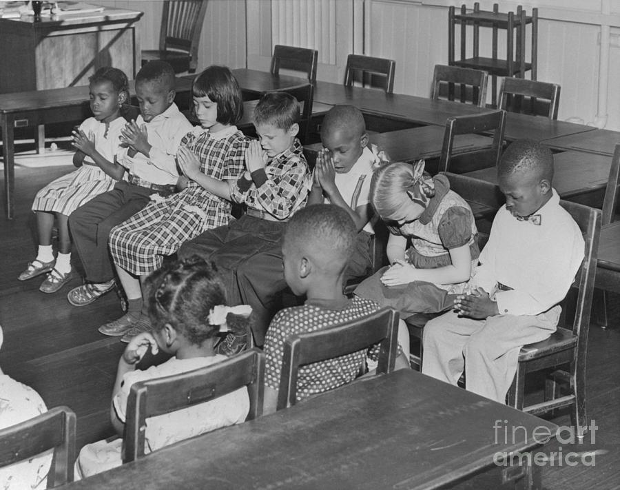 Students Praying In School Photograph by Bettmann