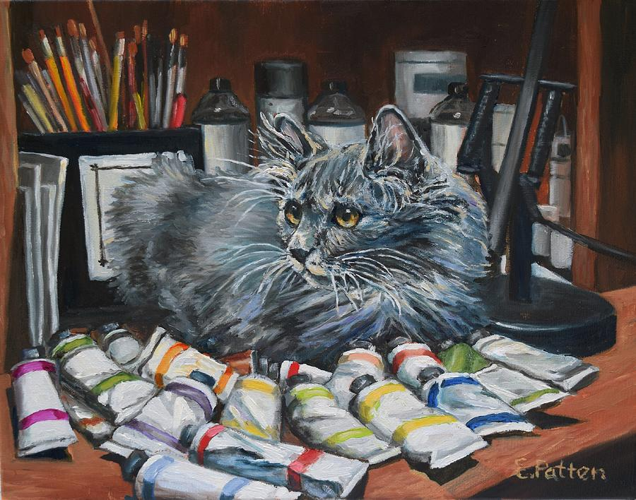 Studio Cat In Training by Eileen Patten Oliver