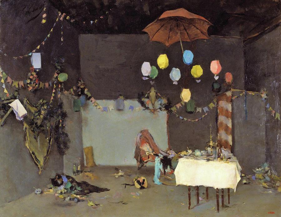 Ramon Casas Painting - Studio Interior - Digital Remastered Edition by Ramon Casas