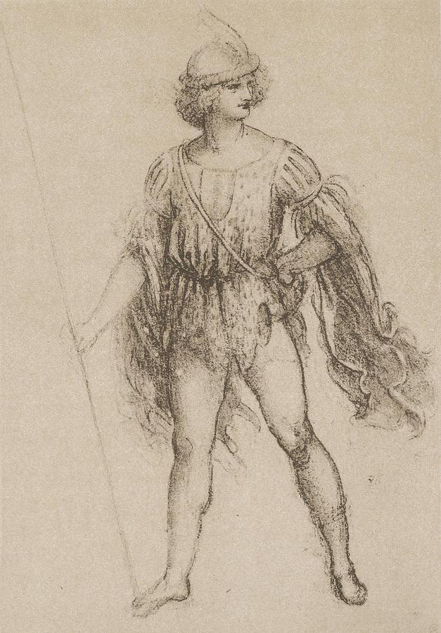 Study For A Costume Drawing By Leonardo Da Vinci