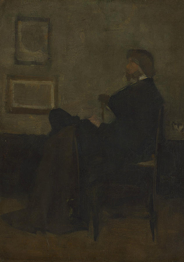 Study for Arrangement in Grey and Black, No. 2 - Thomas Carlyle by James Abbott McNeill Whistler