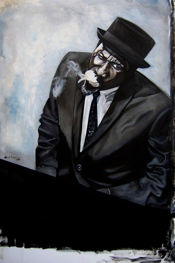 Thelonious Monk Painting - Study - Monk by Martel Chapman