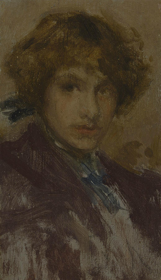 Study of a Girl's Head and Shoulders by James Abbott McNeill Whistler