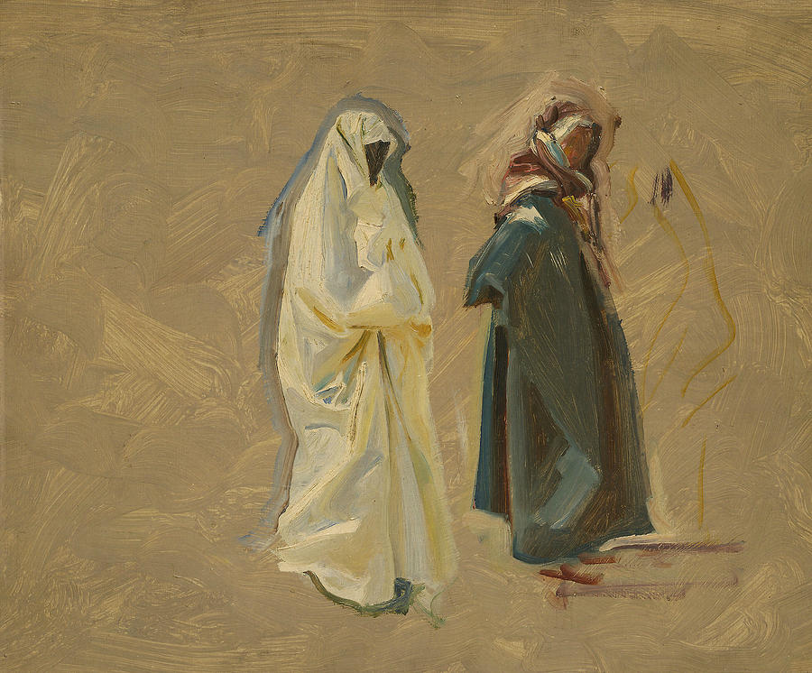Impressionism Painting - Study Of Two Bedouins by John Singer Sargent