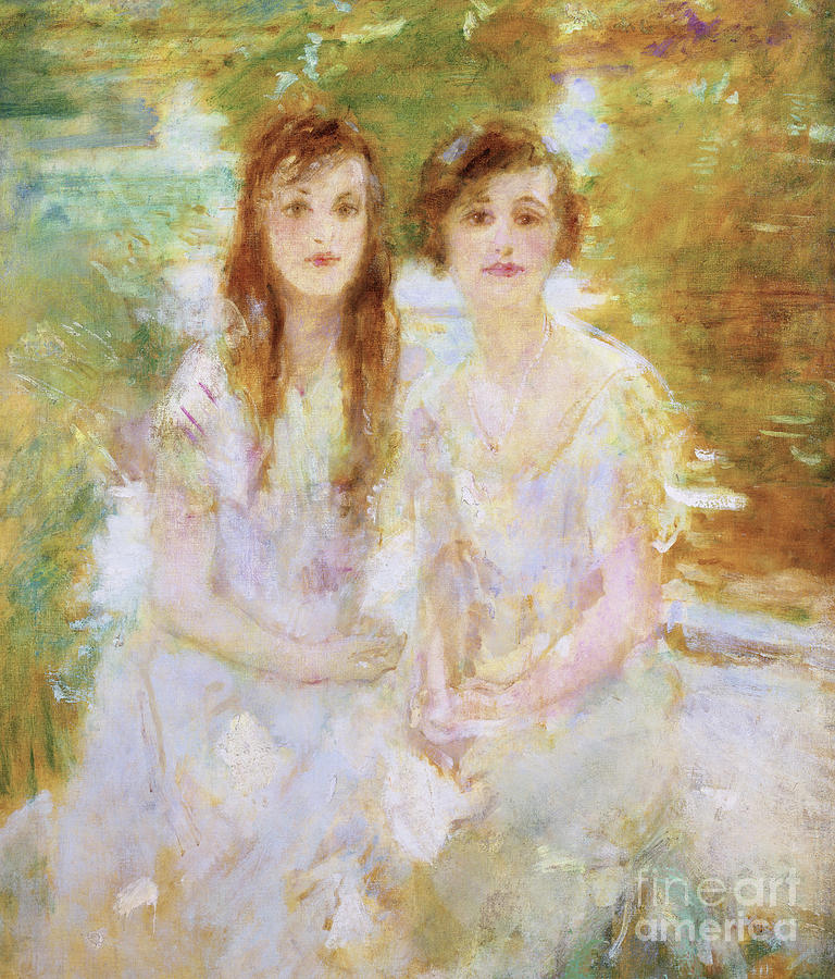 Study of two young girls by Ambrose McEvoy