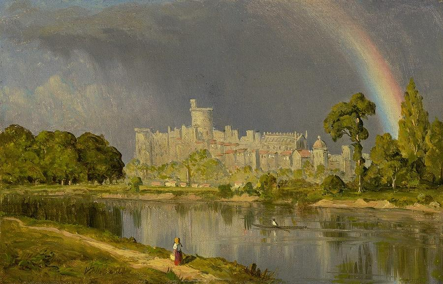 1855 Painting - Study Of Windsor Castle by MotionAge Designs