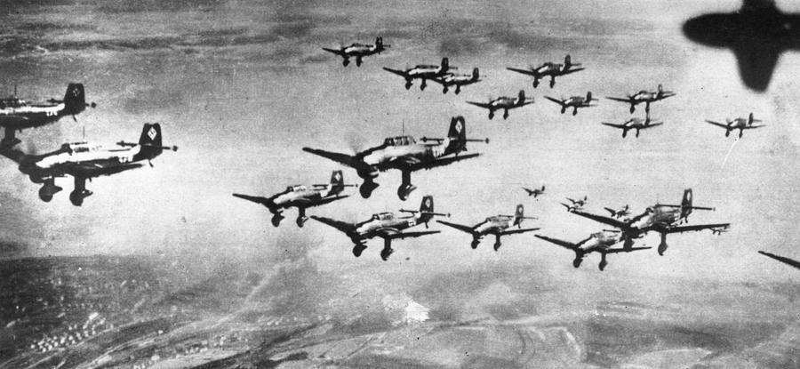 Stukas In Formation Photograph by Keystone