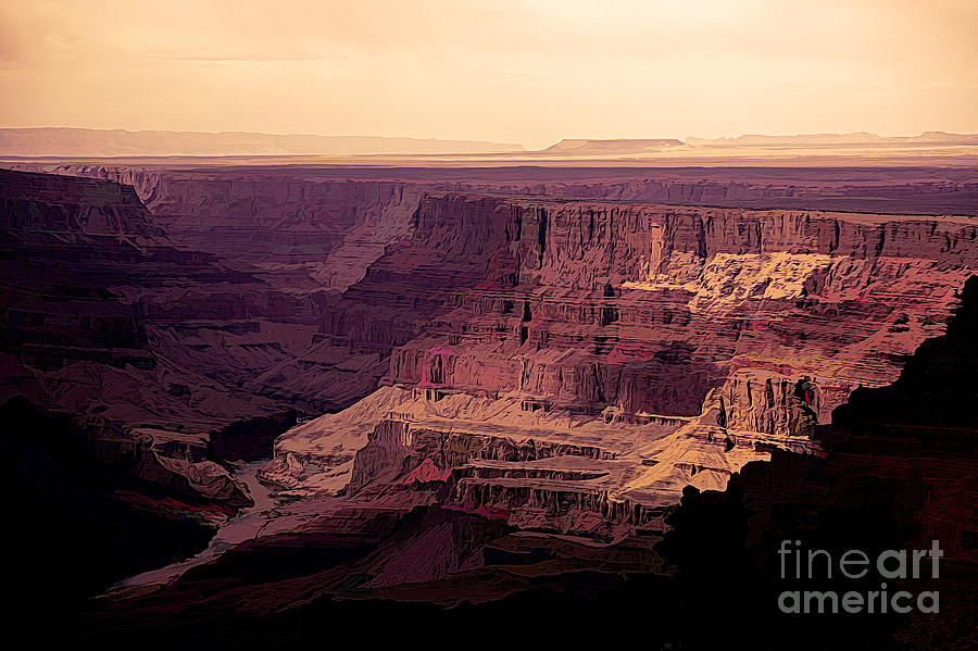Stunning Digital Art Grand Canyon  by Chuck Kuhn