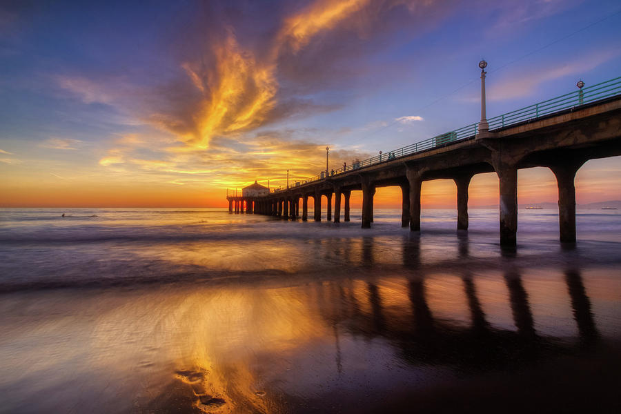 Stunning Sunset at Manhattan Beach Pier by Andy Konieczny