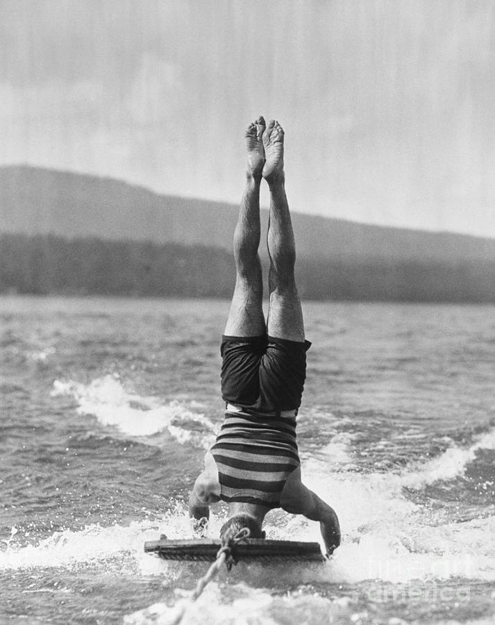 Stunt Man Performing Aquaplane Feat Photograph by Bettmann